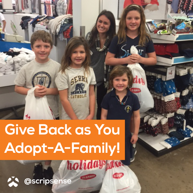 Give Back as You Adopt a Family
