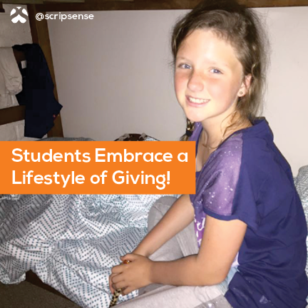 students embrace a lifestyle of giving