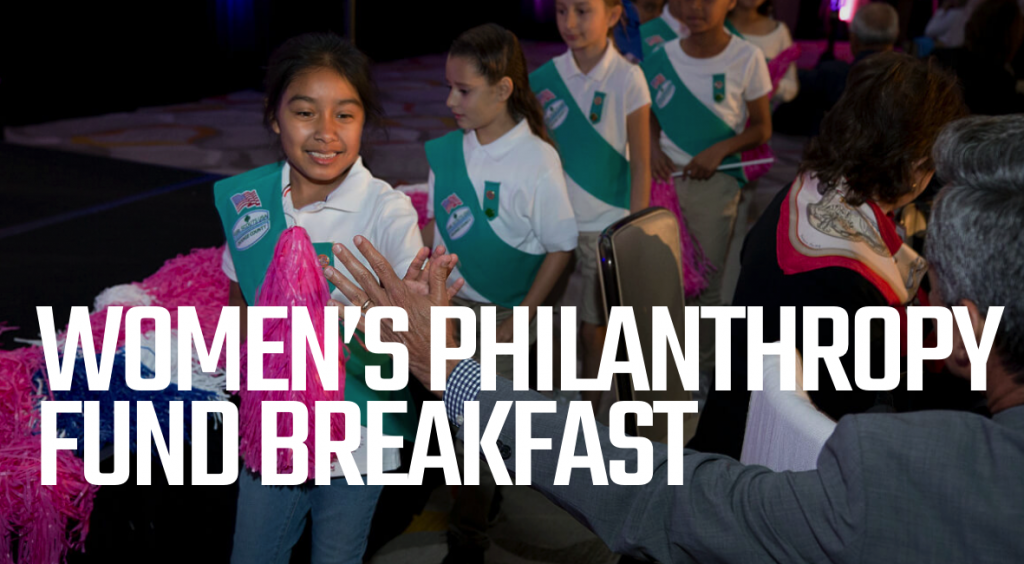 Orange County Girl Scouts are Pictured at the Women's Philanthropy Fund Breakfast