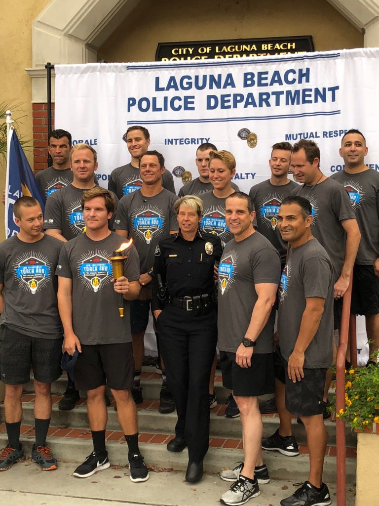 Scripsense Accounting Manager David Brunner is pictured at the Law Enforcement Torch Run for Southern California for the Special Olympics.
